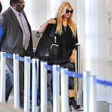 Pictures of Jessica Simpson Leaving LAX