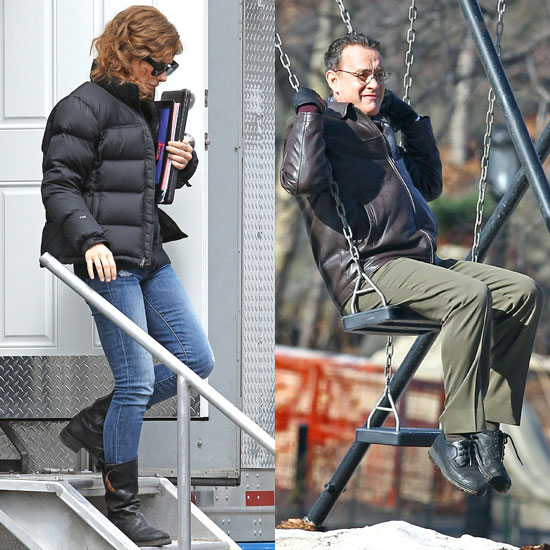 Pictures of Sandra Bullock and Tom Hanks Filming Extremely Loud and Incredibly Close