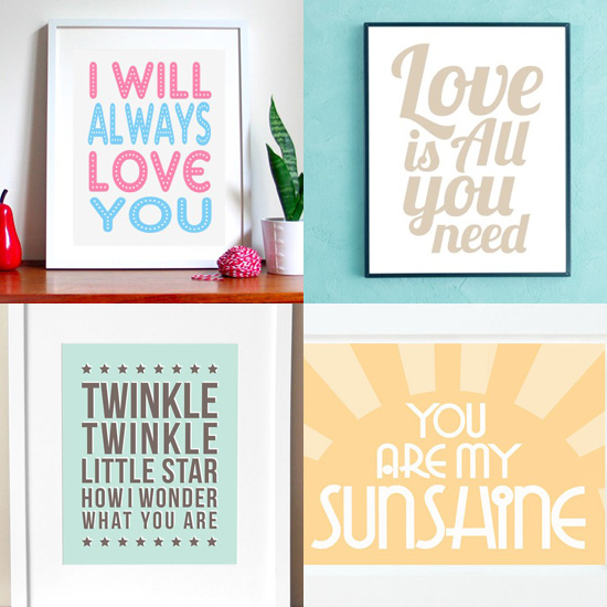 Pimp Your Crib: Surround Your Sweet With Singsongy Love Posters