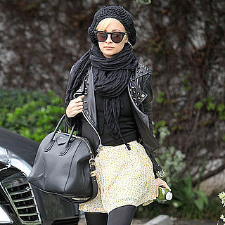 Pictures of Nicole Richie Arriving at the Andy LeCompte Hair Salon in LA