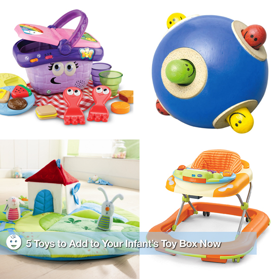 5 Toys to Add to Your Infant's Toy Box Now