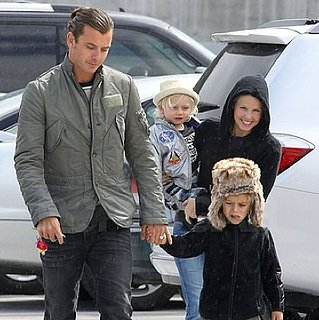 Pictures of Gavin, Kingston, and Zuma Rossdale Enduring the Rain in LA