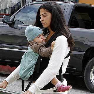 Pictures of Camila Alves With Levi and Vida at Flower Store
