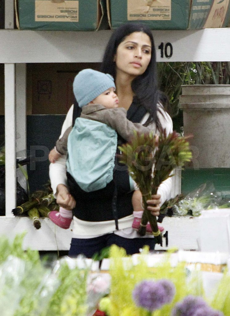 Camila Alves Stops to Smell the Flowers With Levi and Vida