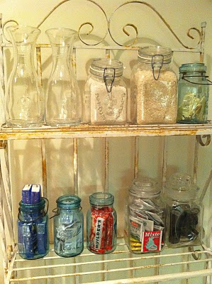 Old Jars for Kitchen Organization