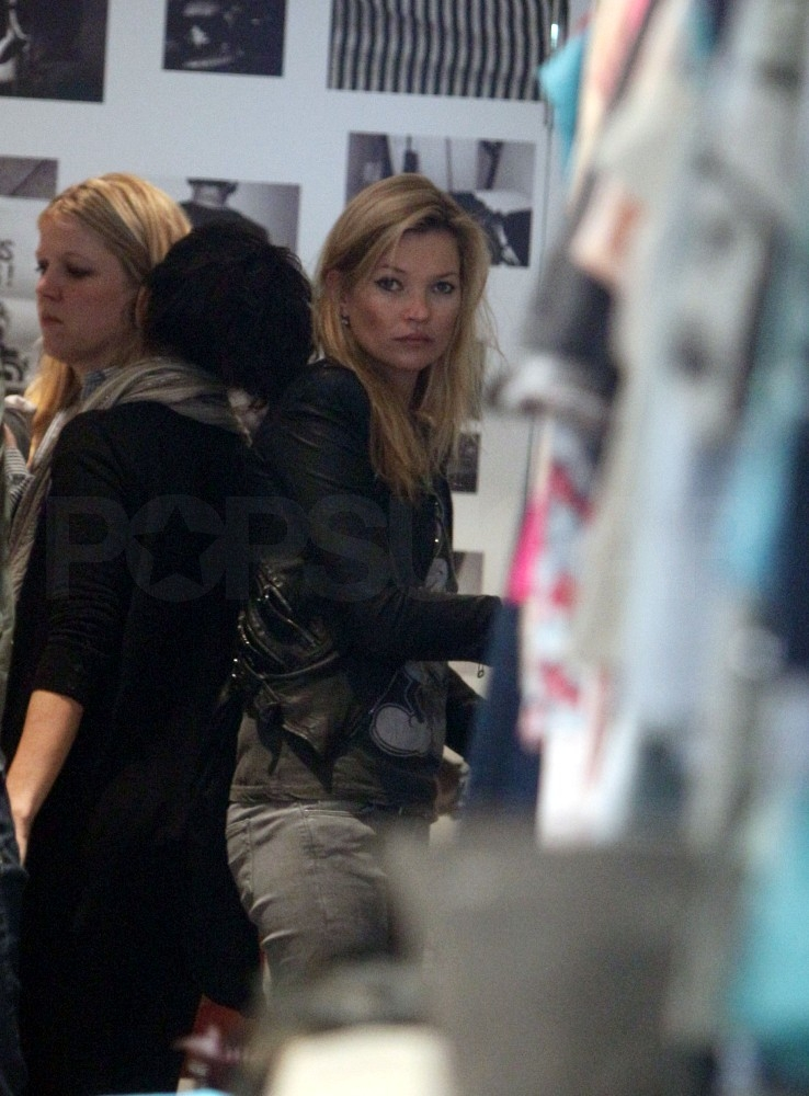 Kate Moss Spends Her Sunday Shopping Along the High Street