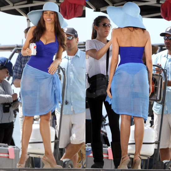 of Sofia Vergara Wearing Thong Bathing Suit For Diet Pepsi Commercial ...