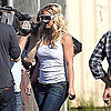 Pictures of Britney Spears Filming Jimmy Kimmel Live in LA