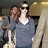Pictures of Anne Hathaway and Adam Shulman Leaving LAX