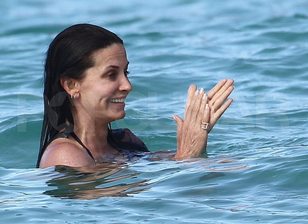 Courteney Cox and Josh Hopkins Share Their Super Sexy Beach Bodies and a Laugh