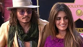 Video: Penelope Cruz Receives Hollywood Walk of Fame Star With Johnny Depp and Javier Bardem