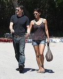 Halle Berry Sports Short Shorts and a Bikini Top For Lunch With Olivier