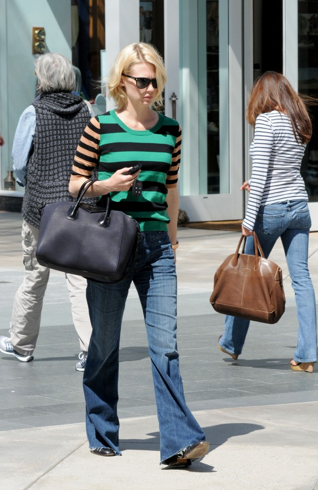 January Jones gave us preppy-cool stripes.