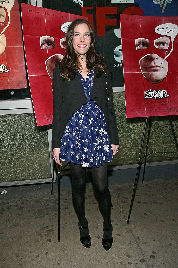 Liv Tyler rocked florals and black in a combo we love.