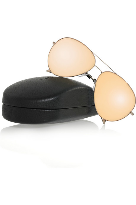 Victoria Beckham 18-Karat Rose Gold Aviator Sunglasses ($775)