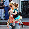 Pictures of Nicole Richie, Joel Madden, Harlow Madden, and Sparrow Madden Shopping For Toys in Beverly Hills