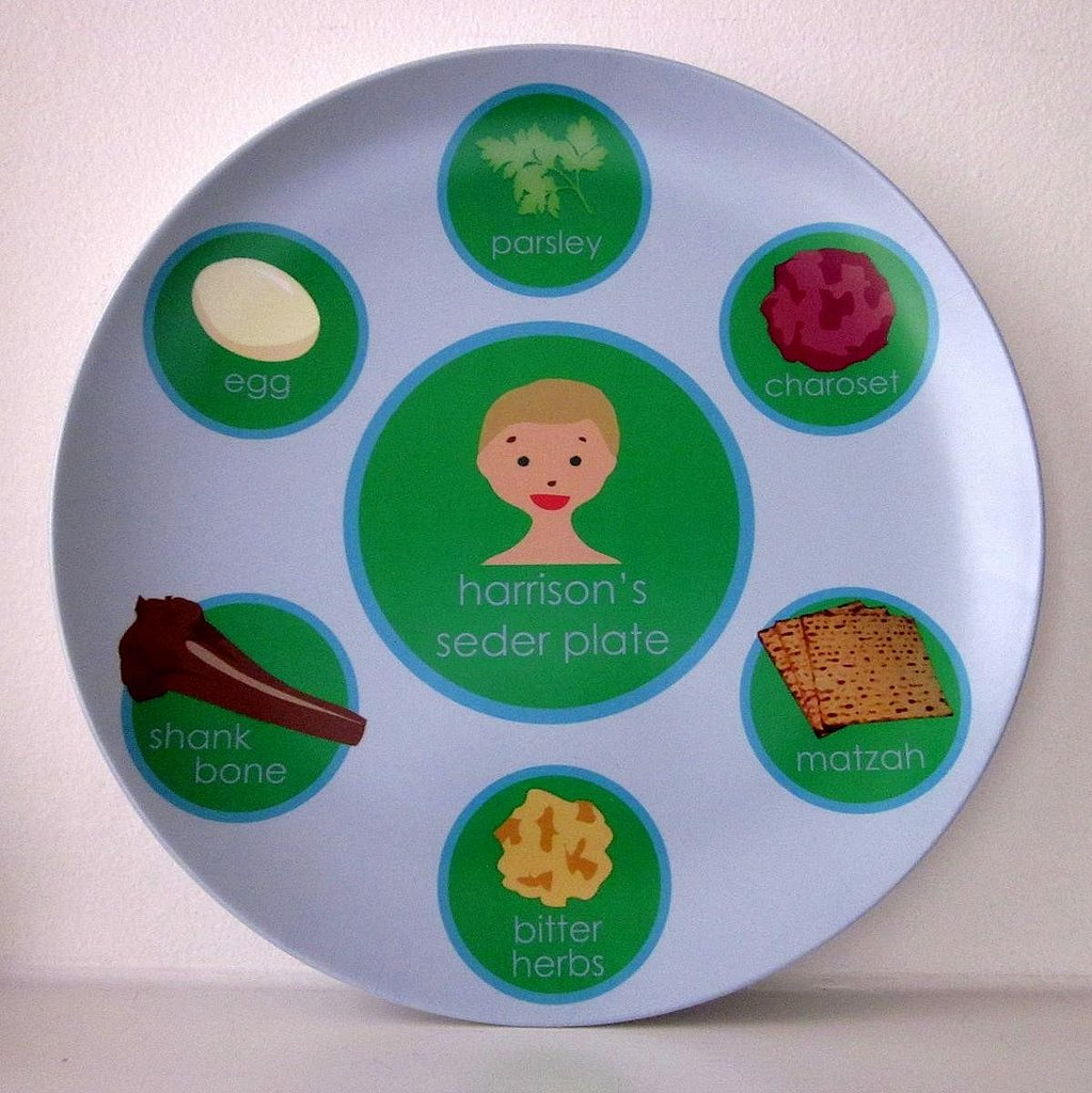 Personalized Seder Plates