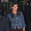 Pictures and Video of Katie Holmes on Jimmy Kimmel Live