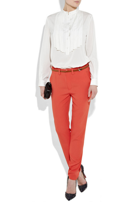 Vanessa Bruno Tapered Crepe Pants ($425)