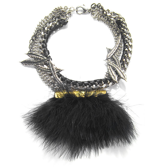 Obviously there has to be room for feathers and leather, in case the pirate in you wants to dress up, so go for this Fenton necklace ($750).