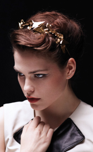 Spiked Metal Orchid Headband