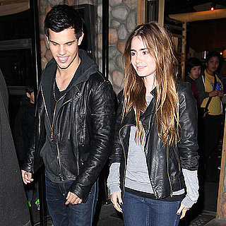 Pictures of Taylor Lautner on Date With Lily Collins