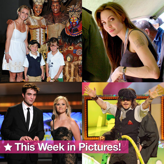Angelina's New Tattoo, Britney and the Boys in Vegas, Rob and Reese Reunite, and More in This Week in Pictures!