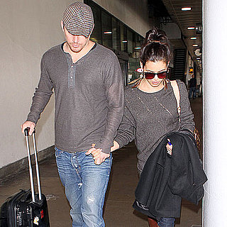 Pictures of Channing Tatum and Jenna Dewan at Airport
