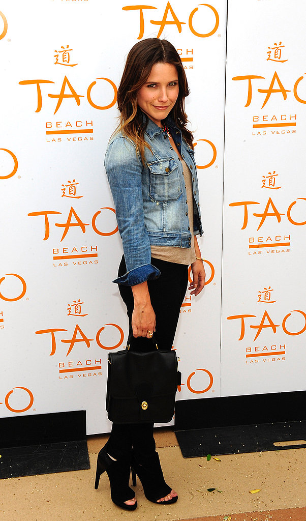 Sophia Bush mixed a ladylike handbag and easy-cool essentials for a winning combination.