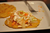 Cheese Pupusa with Crunchy Slaw
