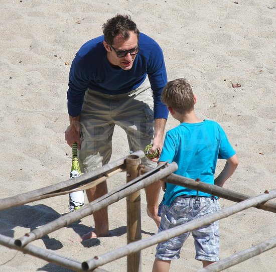 Jude Law Soaks Up the Malibu Sun With His Three Kids