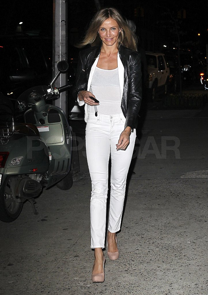 Cameron Goes Tight and White For a Night Out in NYC