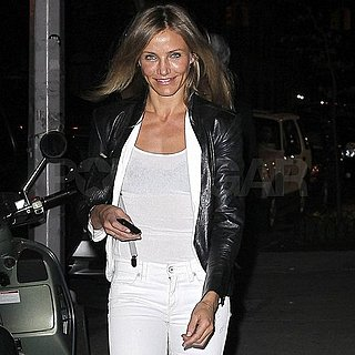 Cameron Diaz in Tight White Pants Pictures in NYC