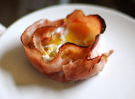 Baked Egg in Ham Shell