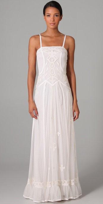 We adore the soft vintage vibe and embroidered details. Temperley London Long Jadeene Dress ($1,650)