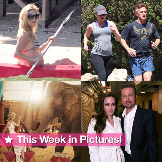 Robert and Kristen Celebrate, Kate's Beach Baby Bump, Angelina and Brad's Night Out, and More in This Week in Pictures!