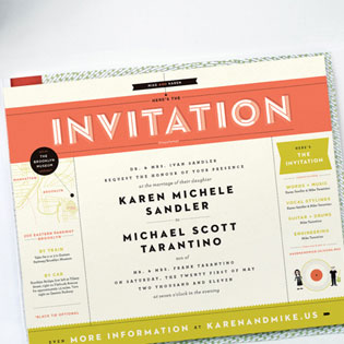 Record Player Wedding Invite