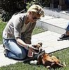 Katherine Heigl Plays With a Dog