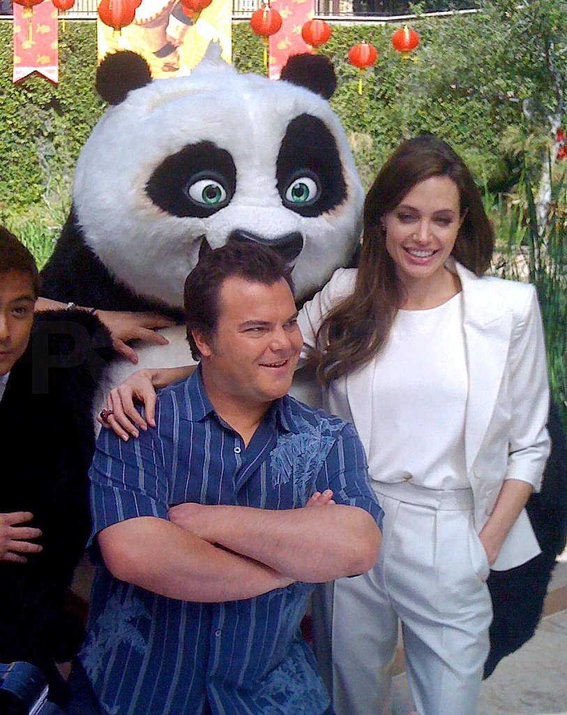 Angelina Jolie and Jack Black Reunite For a Kung Fu Panda 2 Photo Op!