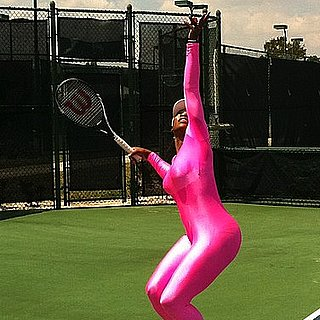 Serena Williams Wears Hot Pink Catsuit Outfit on the Tennis Court