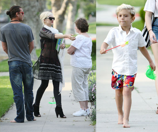 Gwen and Gavin Take Kingston to See Grandma Following a Wedding With Famous Friends