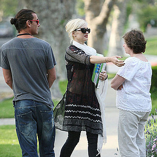 Pictures of Gwen Stefani and Kingston Rossdale Visiting Grandma in LA