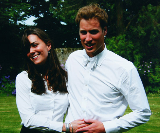 A young Kate Middleton and Prince William were photographed together at St. Andrews in June 2005.