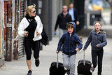 Kate Winslet Goes Running With Her Cute Kids