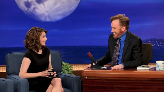 "Video: Pregnant Tina Fey Shares Her Sonogram ""Lava Monster"" With Conan!"