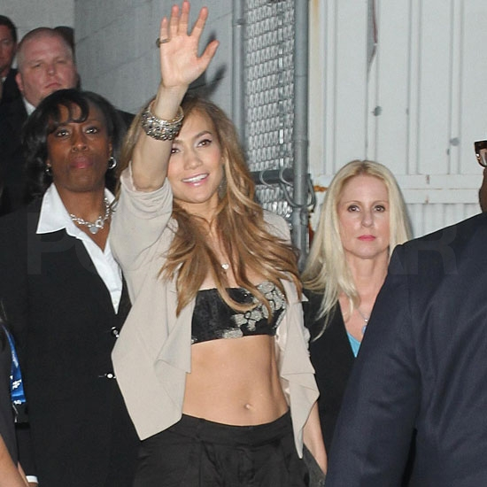 Jennifer Lopez Bares Her Buff Abs For a Hot Love Appearance