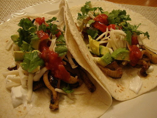 Grilled Vegetable Fajitas
