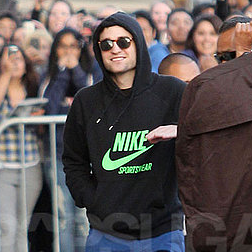Robert Pattinson Arriving at the Jimmy Kimmel Studios in LA
