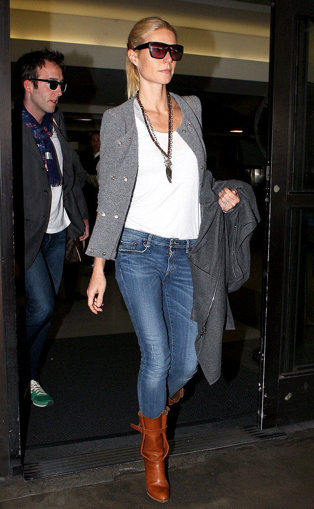 Gwyneth Paltrow Makes a Stylish Arrival at LAX