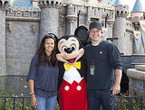 Matt and Luciana Damon Pose With Mickey at Disneyland